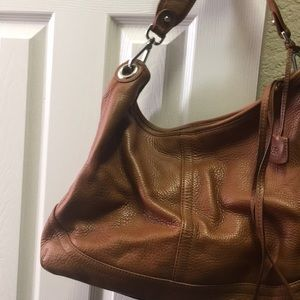 Banana Republic cognac leather purse